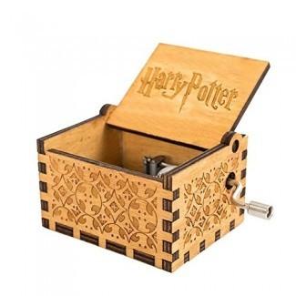 Caja de música Teepao Harry Potter, caja musical de manivela Caja de música de madera tallada Caja de música de madera grabada a mano, juego de Thrones Harry Potter