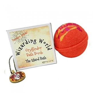 Caja de regalo de bomba de baño Wizard World Red House con colgante a juego - Hecho en EE. UU.