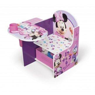 Minnie Kids - Silla de escritorio con compartimento de almacenamiento y portavasos