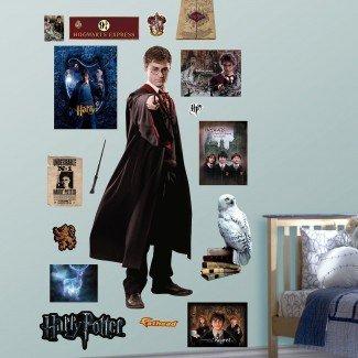 Harry Potter - Etiqueta de la pared de la cáscara y el palo de Phoenix