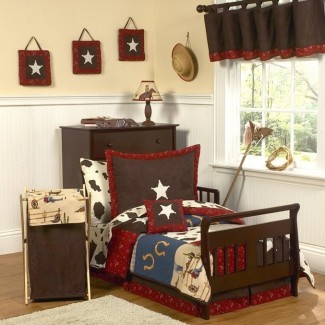 Juego de ropa de cama para niños pequeños de 5 piezas Wild West Cowboy