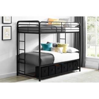 Brogdon Twin sobre Twin Bunk Bed con almacenamiento