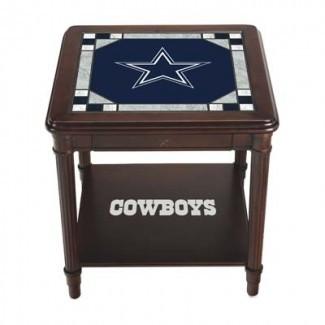 Dallas Cowboys Stained Glass End Table | La menta de Danbury