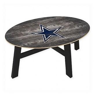 NFL Dallas Cowboys - Mesa de centro de madera desgastada - Baño de cama