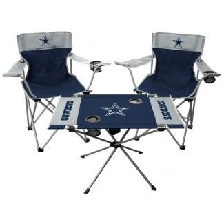 Rawlings Dallas Cowboys Tailgate Silla y juego de mesa