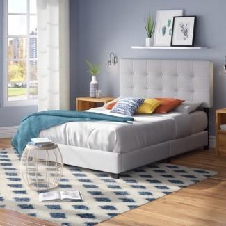 Cama con panel tapizado Finnigan