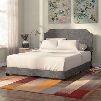 Cama de panel tapizada Kyara