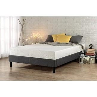 Zinus E Estructura de cama / base de colchón con plataforma tapizada esencial, sin necesidad de somier, soporte de listones de madera