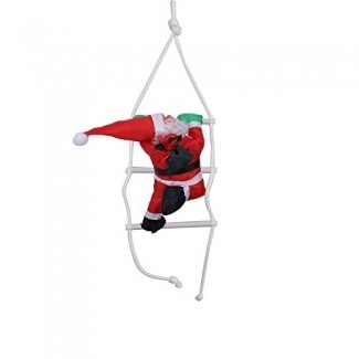 Hofumix Climbing Santa Hanging Santa Claus Decoration Toy Climbing Santa Ladder Christmas Decoration Home Party Decor