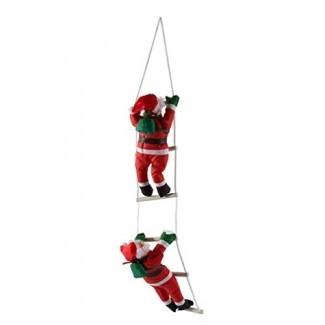 YTJSFH Dos Escalera de Cuerda de Papá Noel, Escalera de Decoración de Árbol de Navidad.
