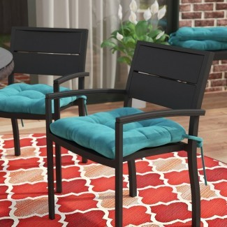 Cojín de silla de comedor interior / exterior (juego de 4)