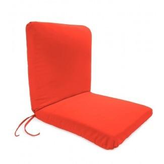 Cojín de sillón lounge de poliéster con lazos