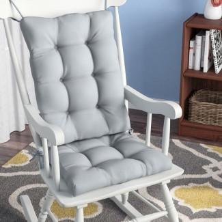 Cojín de silla mecedora de interior 2 piezas