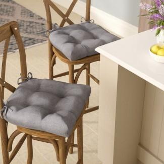 Cojín de silla de comedor reversible para interiores Lachlan (juego de 2)