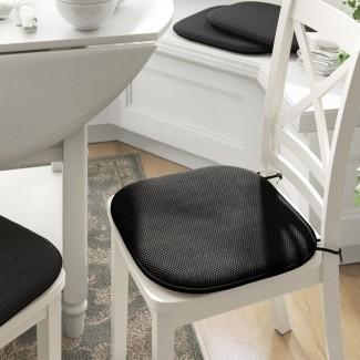 Cojín para silla de comedor interior con espuma de memoria antideslizante (juego de 4 )