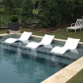 Chaise, Lounge, tumbona, al aire libre, salones, piscina ...