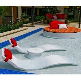 Tumbona, salón, tumbona, al aire libre, salones, piscina ...