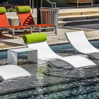 Aqua Sling High End Cojín de muebles de piscina Chaise Lounge Neck Pillow