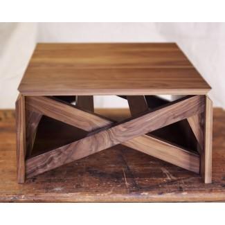 Mesita / mesa transformadora de nogal   Abodeacious