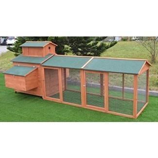Omitree 10 'ft Wood Chicken Coop Backyard Gallinero House Pollo 6 Nesting Box & Run [19659077] Omitree 10 'ft Wood Chicken Coop Backyard Hen Run House Chicken 6 Nesting Box & Run </div> </p></div> <div class=