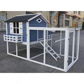 Flyline Garden Window Chicken Coop Chook Pen Cage House Predator Proof L85 x W58 x H52 pulgadas