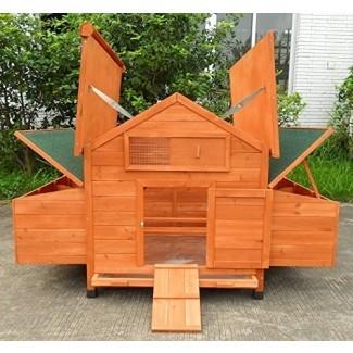 ChickenCoopOutlet Nueva gallinero de madera para gallinero en el patio trasero 4-8 pollos con 6 nidos