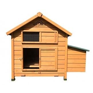 Pets Imperial Single Savoy Large Chicken Coop con nido adecuado para hasta 6 aves, dependiendo del tamaño