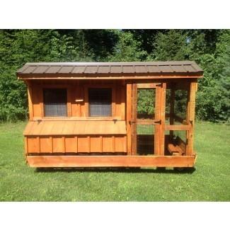 Gallinero 5x6 con Run   Amish Built Chicken Coops