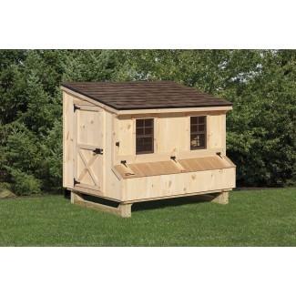 4 × 6 Lean-to Style Gallinero   Escapes en el patio trasero
