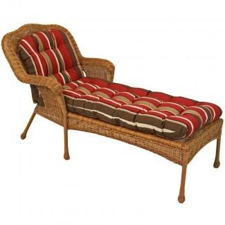 Cojín de chaise lounge para interior / exterior