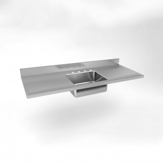 Just Manufacturing SM-60-20 Single Bowl Double Drainboard ...