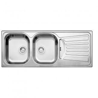 Blanco 2 tazón, escurridor derecho, montaje superior de acero inoxidable ... [19659010] Blanco 2 cuencos, escurridor derecho Topmount inoxidable ... </div> </p></div> <div class=