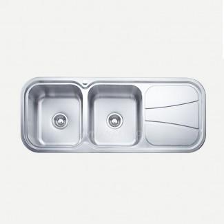 Mejor fregadero de cocina de acero inoxidable con doble recipiente con ...