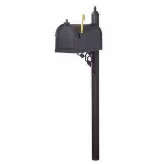 Berkshire Curbside Locking Mailbox con Albion Post incluido