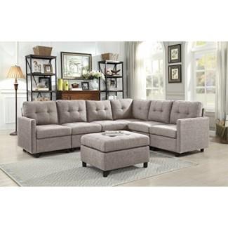 OuchTek Sofás seccionales modulares para Sala de estar