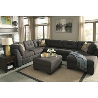 Muebles seccionales del sofá de la lona Interesante seccional ...