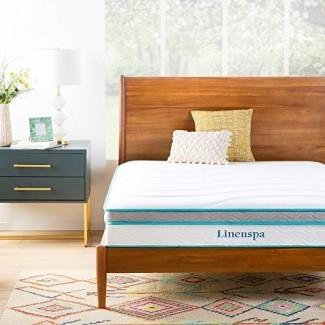 Colchón híbrido de espuma con memoria de gel Linenspa de 12 pulgadas con estructura de cama plegable plegable de 14 pulgadas Linenspa - Twin XL LS10TXMFSP Colchón de cama convencional, XL doble, 10 pulgadas