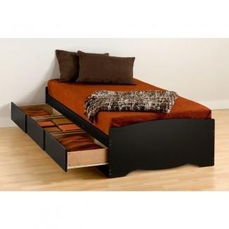 Marco de cama con plataforma de madera Twin Xl Prepac Sonoma Twin Xl
