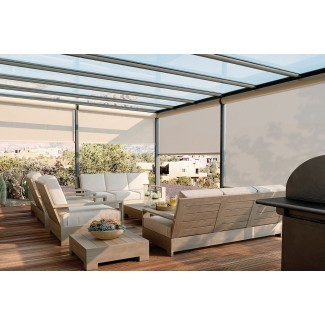 Persianas exteriores para patio - Bloquee el sol, no la vista