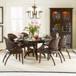 Mesa de comedor: juego de mesa de comedor redondo de 54 pulgadas