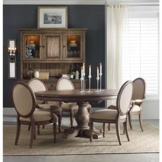 Mesa de comedor redonda de pedestal de 54 pulgadas de Hooker Furniture ...