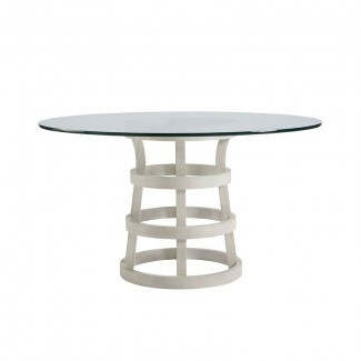 Escape 54 Inch Round Glass Dining Table Universal ...