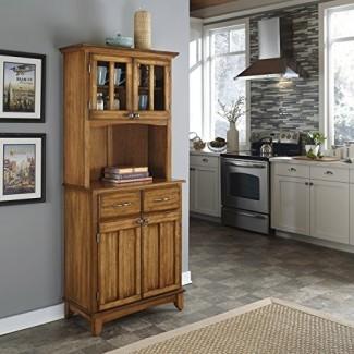 Buffet de Buffet Cottage Oak con encimera de madera con aparador de Home Styles