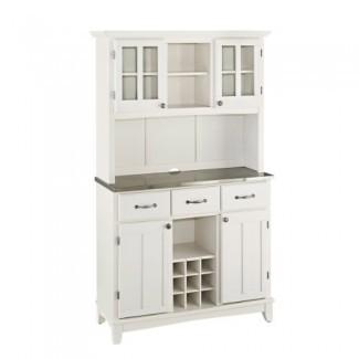 Estilos para el hogar 5100-0023-22 Servidor y gabinete superior de acero inoxidable serie 5001, acabado blanco