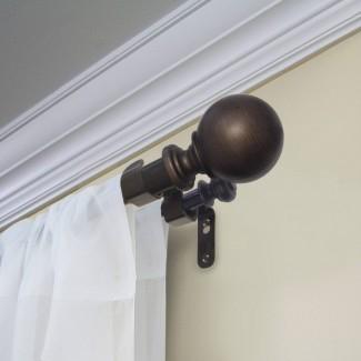 Cómo instalar la barra de cortina doble de alta resistencia de madera blanca