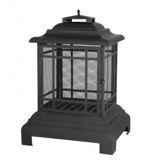 Chimenea al aire libre de la pagoda de leña de acero