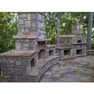 Chimeneas exteriores + Chimeneas - Piedra natural Exterior ...