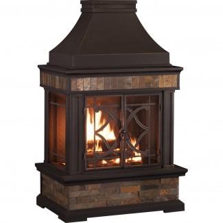 Sunjoy Heirloom Acero madera quemada al aire libre al aire libre ...