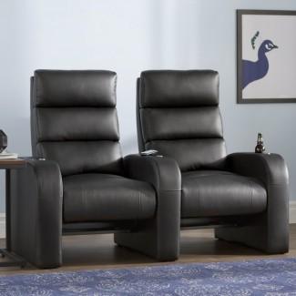 Asientos en fila de cine en casa reclinables manualmente (fila de 2)