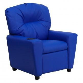 Flash Furniture Sillón reclinable de cuero para niños contemporáneo con ...